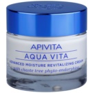 Apivita Aqua Vita intensive feuchtigkeitsspendende und revitalisierende Creme für sehr trockene Haut (with Chaste Tree Phyto-Endorphins) 50 ml