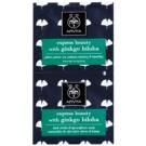 Apivita Express Beauty Ginkgo Biloba Maske für die Augen gegen Schwellungen und Augenringe  2 x 2 ml