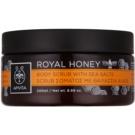Apivita Royal Honey пілінг для тіла з морською сіллю 200 мл