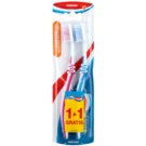Aquafresh Clean & Flex Zahnbürste Medium 2 pc Dark Pink & Blue (Flex Zone, Gentle on Gums)
