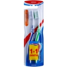 Aquafresh Clean & Flex periuta de dinti Medium 2 pc Dark Blue & Green (Flex Zone, Gentle on Gums)