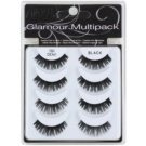 Ardell Glamour nalepovací řasy multipack odstín 101 (Demi Black) 3 cm
