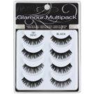Ardell Glamour gene false Multipack culoare 101 (Demi Black) 3 cm