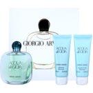 Armani Acqua di Gioia coffret XII. Eau de Parfum 100 ml + gel de duche 75 ml + leite corporal 75 ml