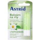 Astrid Lip Care heřmánkový balzám na suché a citlivé rty s regeneračním účinkem (Vitamin E, UV Protection) 4,8 g