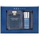 Azzaro Chrome United zestaw upominkowy I. woda toaletowa 100 ml + dezodorant w sztyfcie 75 ml