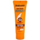 Babaria Sun Sport opalovací krém na obličej SPF 50 (Aloe vera, Silanols and Solar Filters) 75 ml