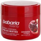 Babaria Twenty Körpercreme mit Granatapfel (Body Cream For Combination Skins) 250 ml