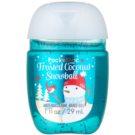 Bath & Body Works PocketBac Frosted Coconut Snowball antibakterielles Gel für die Hände (Frosted Coconut Snowball) 29 ml