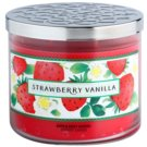 Bath & Body Works Strawberry Vanilla vonná svíčka 411 g