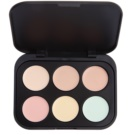 BHcosmetics 6 Color paleta corectoare culoare Light (Concealer and Corrector) 5,8 g