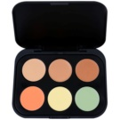 BHcosmetics 6 Color paleta corectoare culoare Medium (Concealer and Corrector) 5,8 g