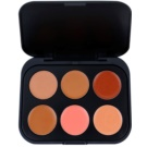 BHcosmetics 6 Color paleta korektorjev odtenek Dark  5,8 g