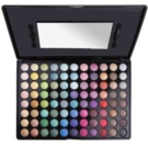 BHcosmetics 88 Color Shimmer палетка тіней з дзеркальцем 88 Color (Shimmer Eyeshadow) 68,5 гр