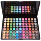 BHcosmetics 88 Color Shimmer paleta de sombras de ojos con espejo y aplicador  71 g