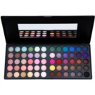 BHcosmetics Day & Night paleta očných tieňov so zrkadielkom (60 Color Eyeshadow) 39 g