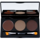 BHcosmetics Flawless kit para cejas tono Medium 3,1 + 1,2 g