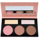 BHcosmetics Forever Nude Sculpt & Glow Palette To Facial Contours With Mirror Color Light Medium 45 g