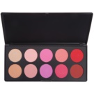 BHcosmetics Glamorous paleta de coloretes (10 Color) 27 g