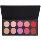 BHcosmetics Glamorous Blush Palette (10 Color) 27 g