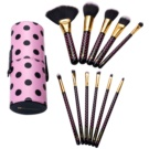 BHcosmetics Pink-A-Dot sada štětců (Brush Set) 11 Ks