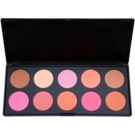 BHcosmetics Professional Rouge Palette (10 Color) 27 g