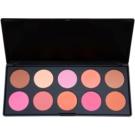 BHcosmetics Professional paleta de coloretes (10 Color) 27 g
