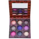 BHcosmetics Wild at Heart paleta de sombras  com espelho pequeno (9 Color) 17,7 g