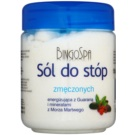 BingoSpa Guarana & Dead Sea Minerals koupelová sůl pro unavené nohy  550 g