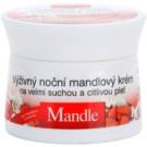 Bione Cosmetics Almonds nährende Nachtcreme für sehr trockene und empfindliche Haut  51 ml