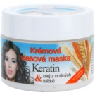 Bione Cosmetics Keratin Grain Cream Mask For All Types Of Hair (Parabens and Silicons Free) 260 ml