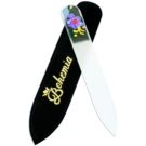 Bohemia Crystal Painted Nail File Small Nail File pilník na nehty Violet Flower (Painted Nail File with Swarovski)