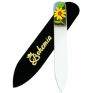 Bohemia Crystal Painted Nail File Small Nail File pilník na nehty Yellow Flower (Painted Nail File with Swarovski)