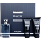 Boucheron Quatre lote de regalo I. eau de toilette 100 ml + bálsamo after shave 100 ml + gel de ducha 100 ml