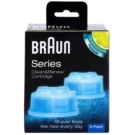 Braun Series Clean&Renew CCR2 Cleansing Dock Cartridges Lemonfresh Formula Cartrige (Compatible with Series 7,5,3) 2 pc