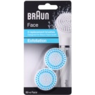 Braun Face  80-e Exfoliation cabeça refill 2 pçs (2 Replacement Sponges) 2 un.