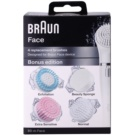 Braun Face  80-m Bonus Edition cabezal de recambio (Exfoliation, Beauty Sponge, Extra Sensitive, Normal) 4 ud