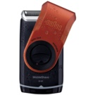 Braun MobileShave M-60r Travel-Rasierer rot (Smart Foil, Wide Floating Foil, Washable)