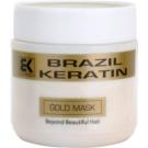 Brazil Keratin Gold кератинова възстановителна маска за увредена коса  500 мл.