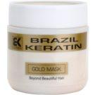 Brazil Keratin Gold máscara regeneradora de queratina para cabelo danificado (Mask) 500 ml
