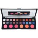 BrushArt Pro Makeup paleta de sombras de ojos y coloretes con un espejo pequeño (26 Colors)