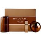 Bvlgari AQVA Amara set cadou II. Apa de Toaleta 100 ml + Apa de Toaleta 15 ml + Gel de dus 200 ml