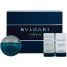 Bvlgari AQVA Pour Homme set cadou XI. Apa de Toaleta 100 ml + After Shave Emulsion 75 ml + Gel de dus 75 ml