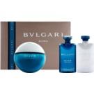 Bvlgari AQVA Pour Homme Geschenkset XIII. Eau de Toilette 100 ml + After Shave Balsam 75 ml + Duschgel 75 ml + Kosmetiktasche