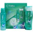 C-THRU Emerald Shine lote de regalo III  desodorante en spray 150 ml + gel de ducha 250 ml