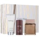 Calvin Klein Euphoria Men Intense zestaw upominkowy V. woda toaletowa 100 ml + dezodorant w sztyfcie 75 ml + balsam po goleniu 100 ml