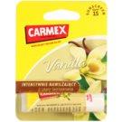 Carmex Vanilla хидратиращ балсам за устни в тубичка SPF 15 4,25 гр.