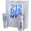 Carolina Herrera 212 NYC Men set cadou III Apa de Toaleta 100 ml + gel dupa ras 100 ml