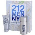 Carolina Herrera 212 NYC Men zestaw upominkowy III. woda toaletowa 100 ml + żel do golenia  100 ml