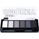 Catrice Glam & Smokey szemhéjfesték paletták füstös sminkhez árnyalat 010 Never Grey Up 6 g